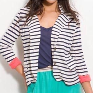 Splendid striped stretch knit blazer